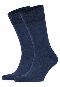FALKE - HAPPY 2-PACK - Socks - mottled blue - 2