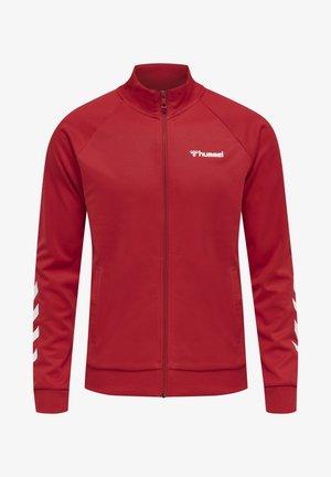 FALCONZO - Zip-up sweatshirt - racing red