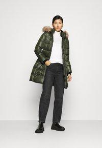 Calvin Klein - ESSENTIAL REAL COAT - Down coat - dark olive - 1