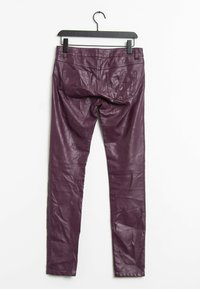 edc by Esprit - Leather trousers - purple - 1