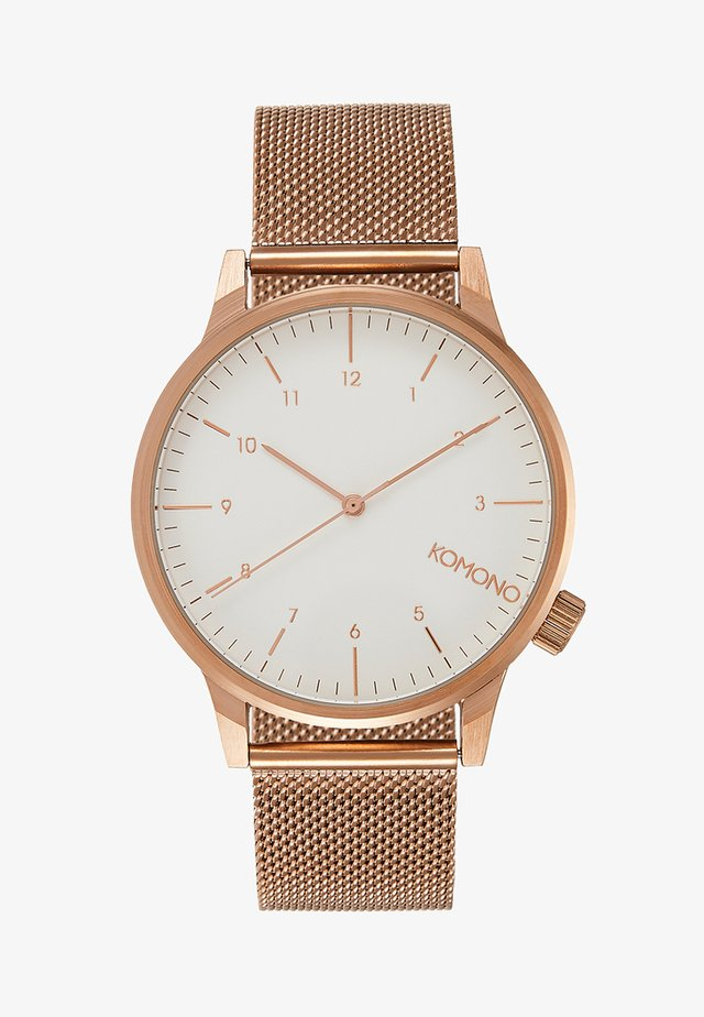 WINSTON ROYALE - Watch - roségold-coloured/white