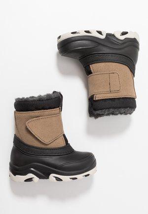 Winter boots - dark blue/brown