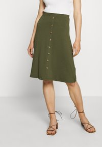 Even&Odd - A-line skirt - olive night - 0