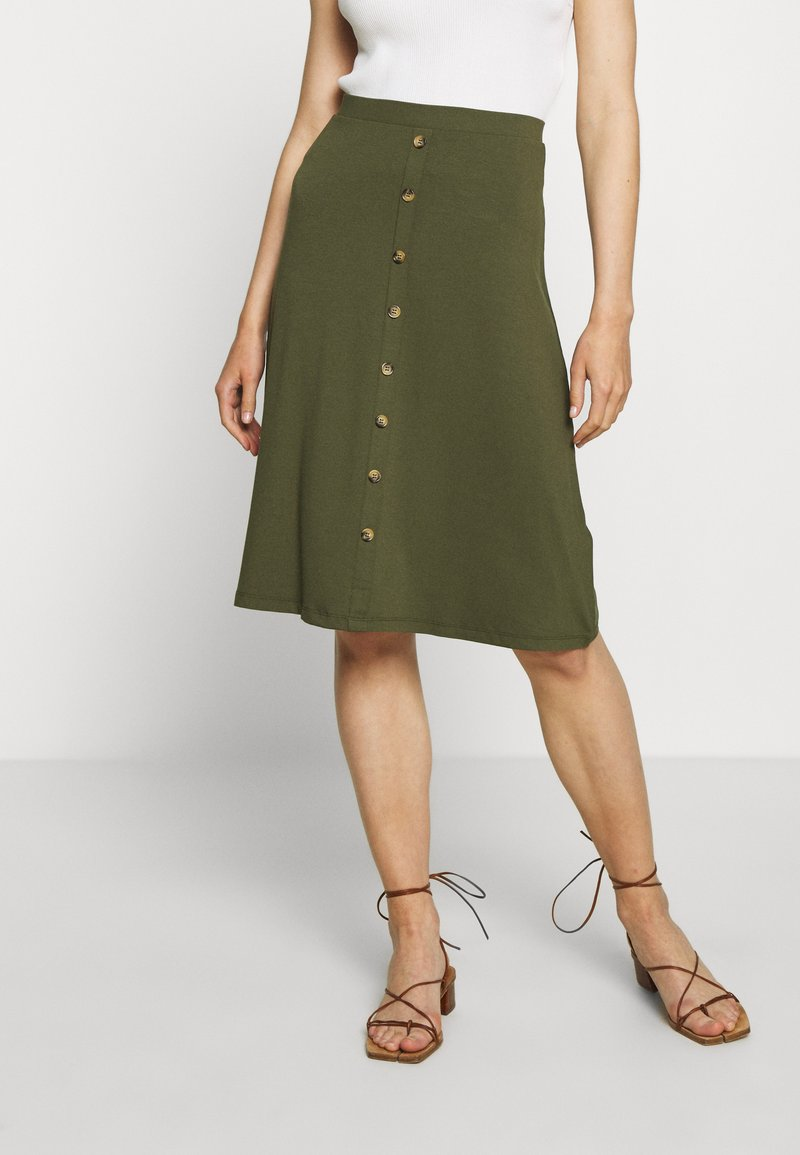 Even&Odd - A-line skirt - olive night