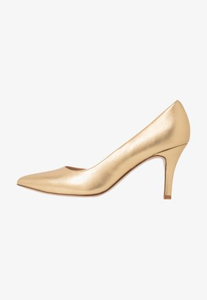 LEATHER PUMPS  - Classic heels - gold