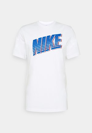 BLOCK - T-shirts print - white/game royal