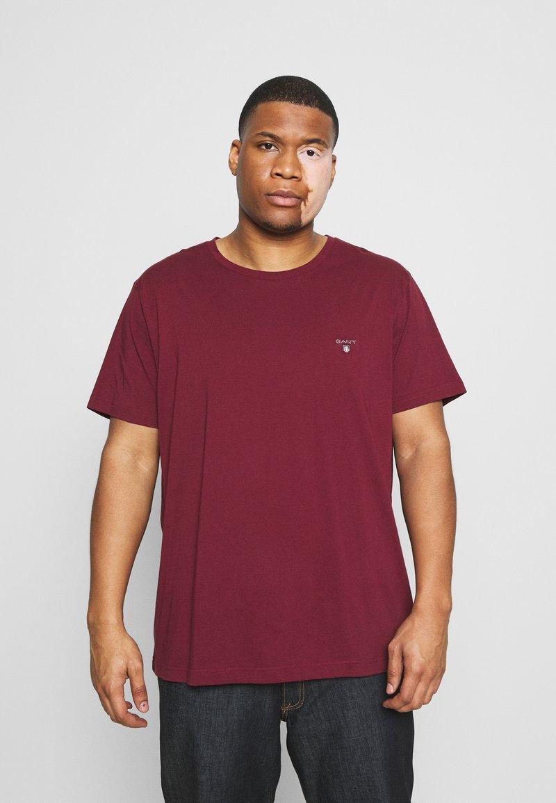 GANT - PLUS THE ORIGINAL - Camiseta básica - port red
