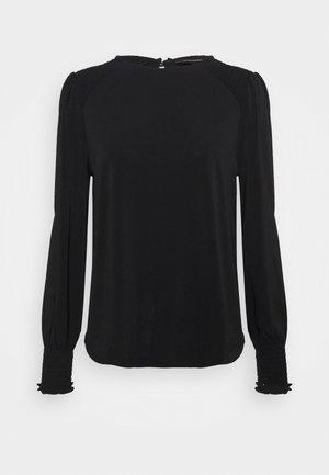 SMOCK SHOULDER - Maglietta a manica lunga - black