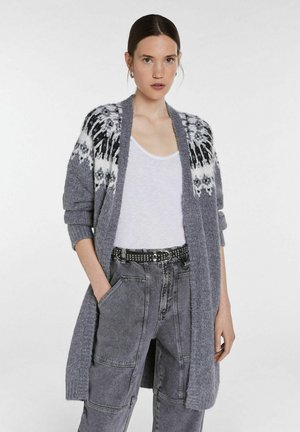 Cardigan - light grey white