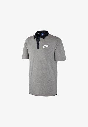 Polo shirt - grauschwarzweiss