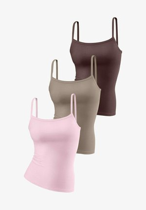 Body - rosa + taupe + braun