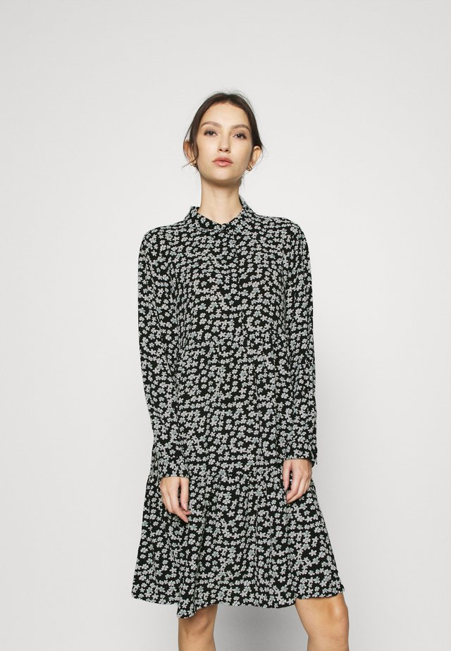 JDYPIPER DRESS - Shirt dress - black/white