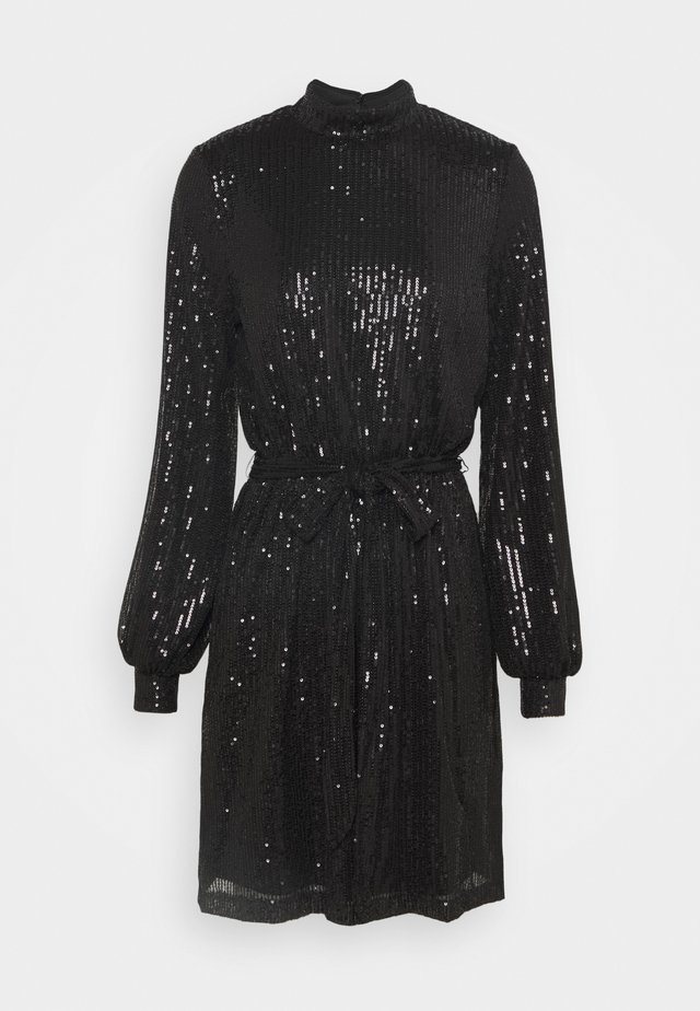 HIGH NECK DRESS - Cocktailkjoler / festkjoler - black