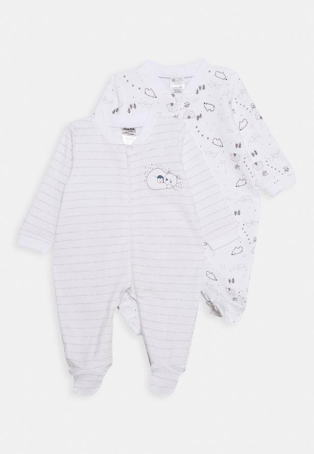 2 PACK - Pijama - white