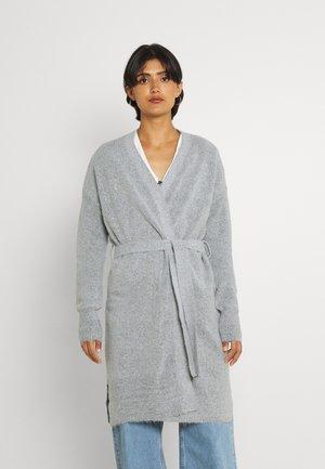 VIROLFIE TIE BELT CARDIGAN - Cardigan - light grey