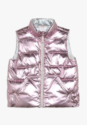 NARIE PUFFER VEST PRINT - Smanicato - metalic/rose gold