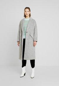 Topshop - EFFIE BRUSHED COAT - Manteau classique - grey - 0