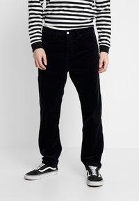 Carhartt WIP - NEWEL - Trousers - dark navy rinsed - 0
