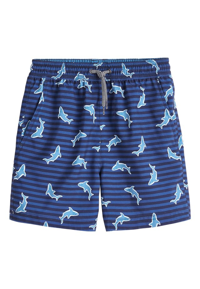 NAVY SHARK SWIM SHORTS (3MTHS-16YRS) - Swimming shorts - blue