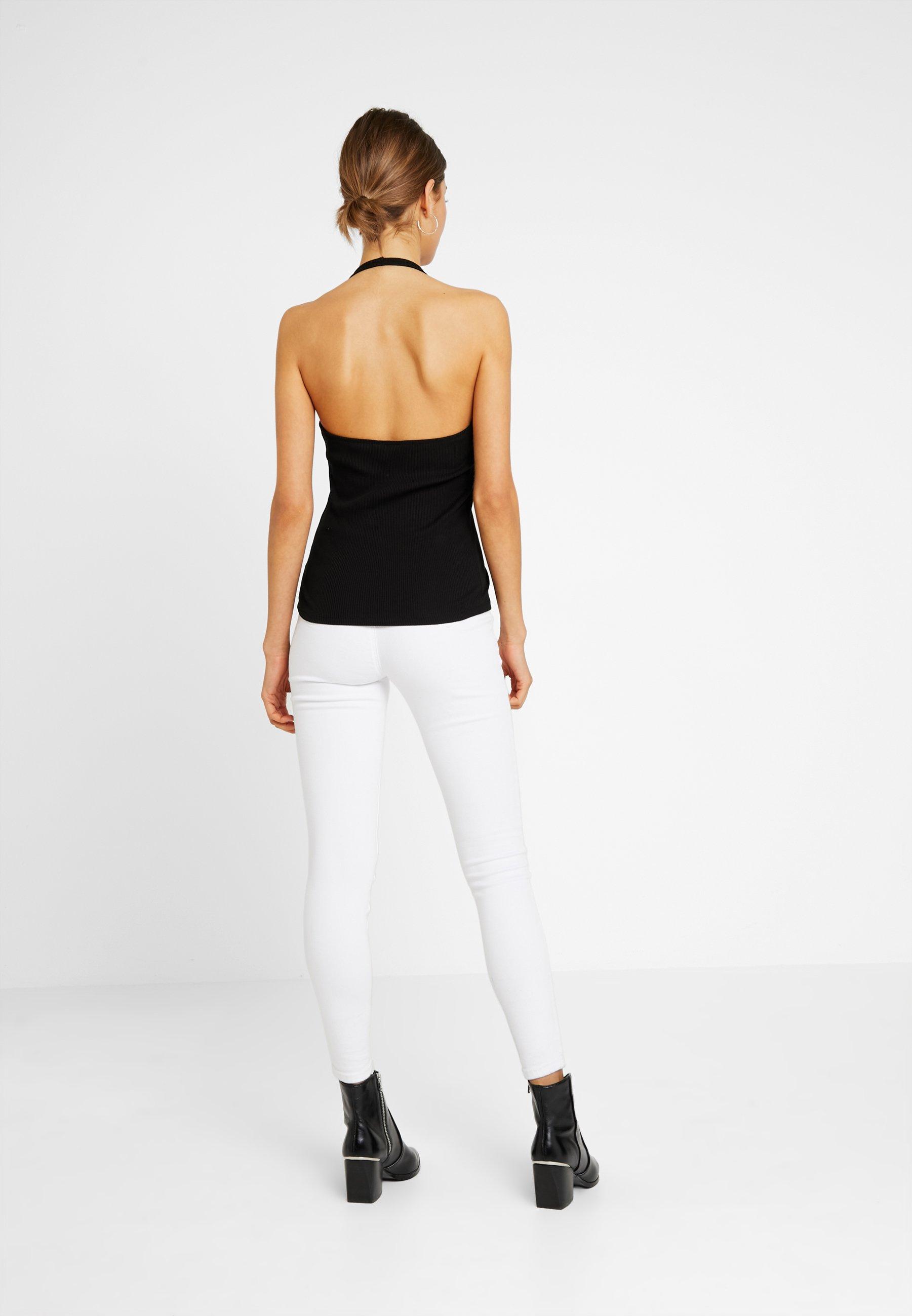 Monki 2 PACK BRIZY SINGLET UNIQUE - Topper - white/black