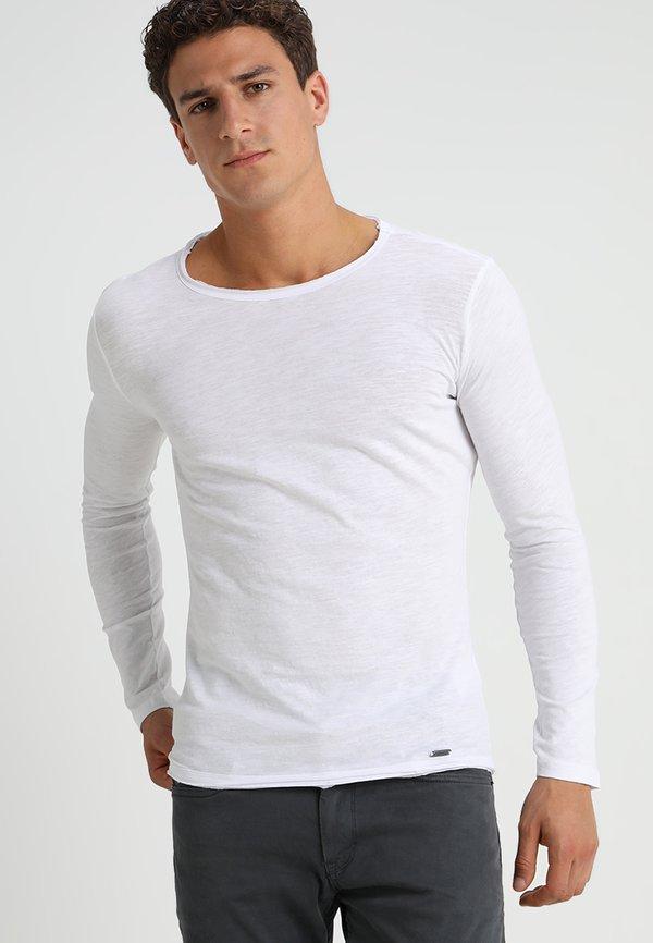 Key Largo CHEESE - Bluzka z długim rękawem - white/biały Odzież Męska YMIP