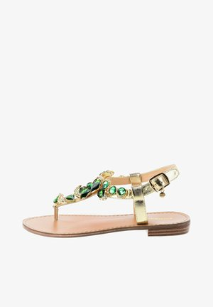 DELLA - Sandaler m/ tåsplit - golden