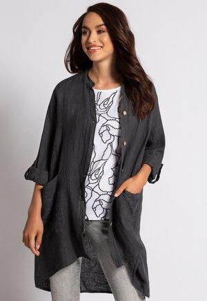 Button-down blouse - kohlegrau