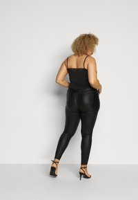 Missguided Plus - PLUS VICE COATED SKINNY  - Skinny džíny - black - 2