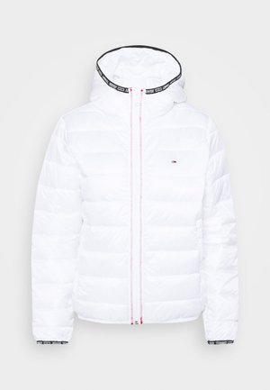 QUILTED HOODED JACKET - Chaqueta de entretiempo - white