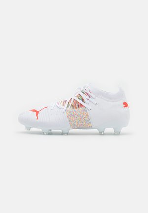 FUTURE Z 3.1 FG/AG - Moulded stud football boots - white/red blast