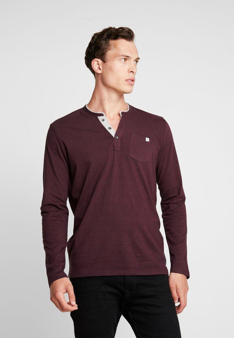 TOM TAILOR - STRIPED LONGSLEEVE - Long sleeved top - burgundy