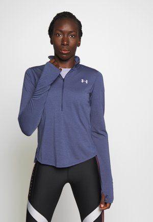 STREAKER HALF ZIP - Sports shirt - blue ink/reflective