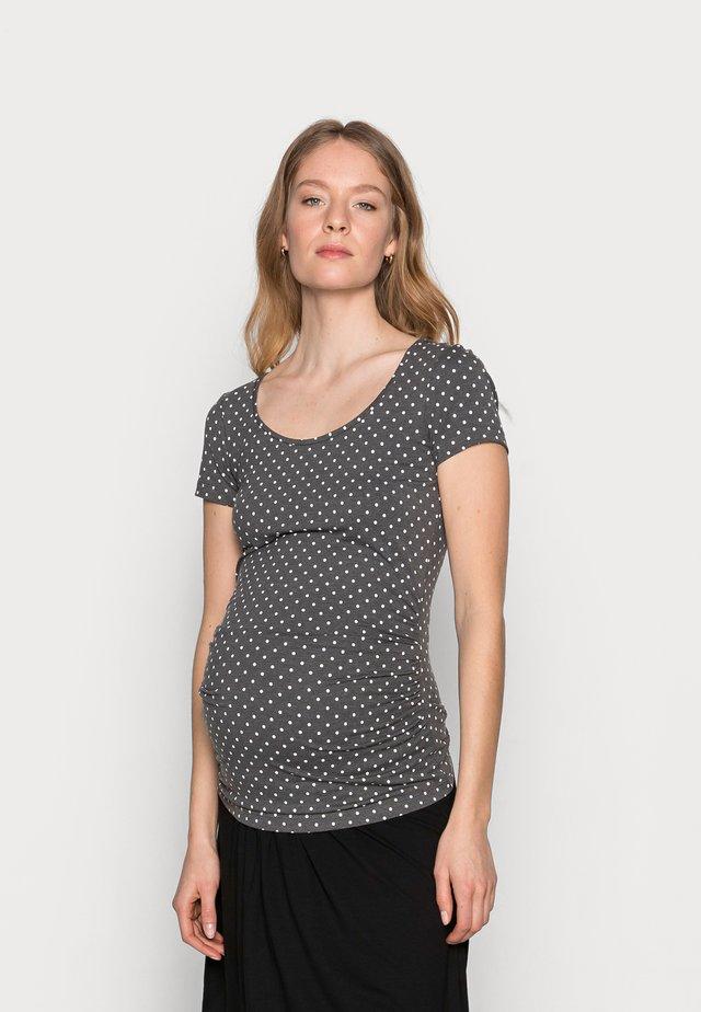 T-shirt z nadrukiem - white/grey