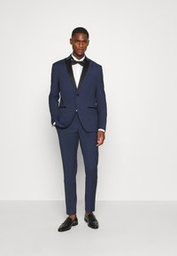 Isaac Dewhirst - CHECK TUX - Suit - dark blue - 1