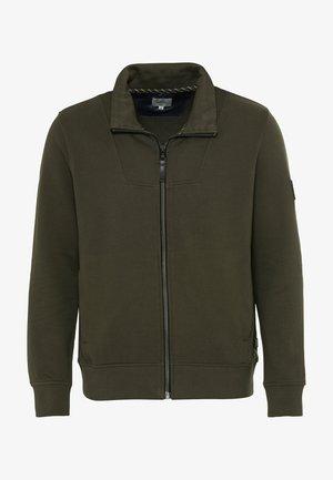 Zip-up hoodie - mud