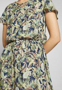 Barbara Lebek - Day dress - denim blue/ lemon/ orange - 7