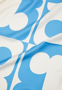 Tory Burch - COLOR BLOCK LOGO SQUARE  - Foulard - blue wallpaper - 2
