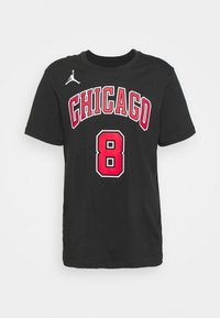 Nike Performance - NBA ZACH LAVINE CHICAGO BULLS STATEMENT NAME NUMBER TEE - Squadra - black - 3