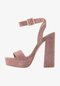 Even&Odd - LEATHER - High heeled sandals - rose - 1