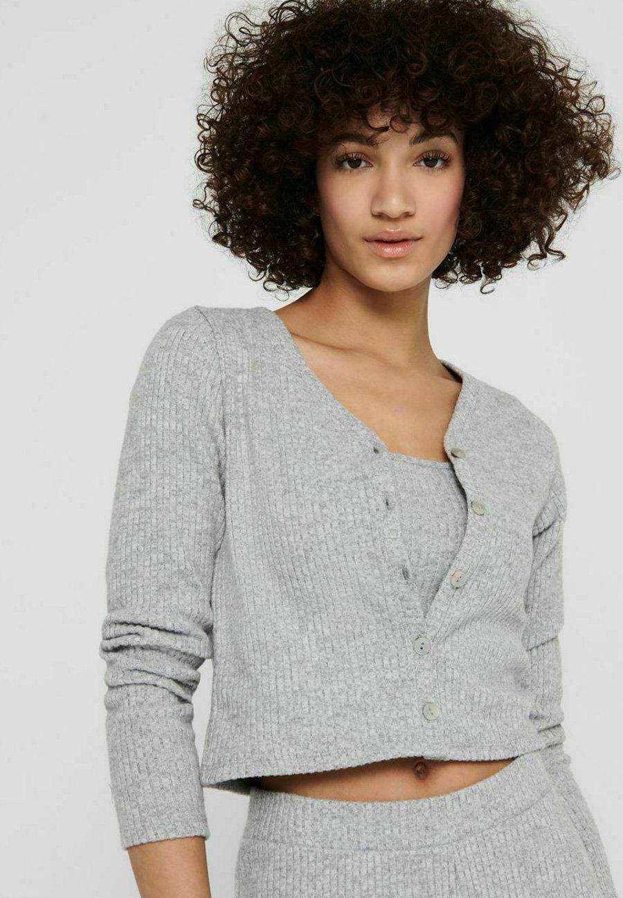 Damen Strickjacke - light grey