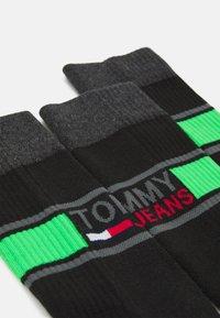Tommy Jeans - SOCK 2 PACK UNISEX  - Ponožky - green/black - 1