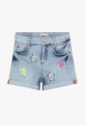 GIRLS PAILLETTEN STERNE - Shorts vaqueros - light blue