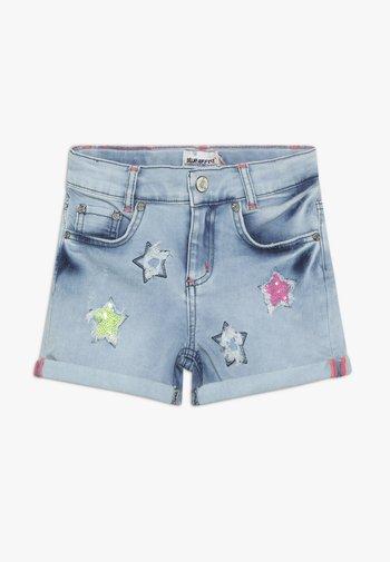 GIRLS PAILLETTEN STERNE - Denim shorts - light blue