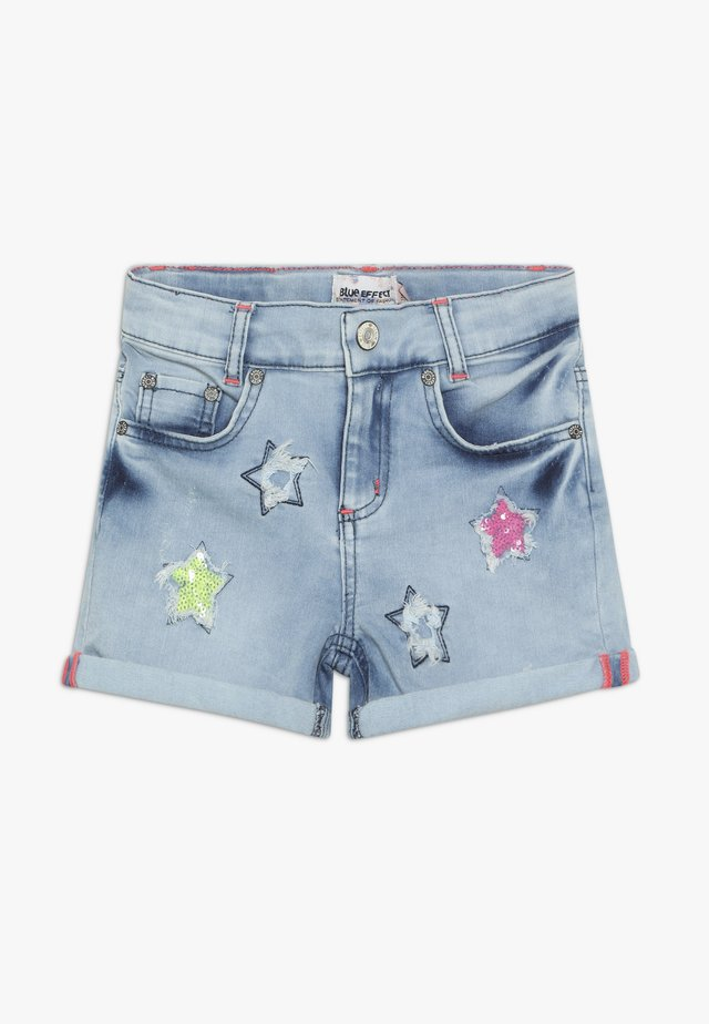 GIRLS PAILLETTEN STERNE - Shorts di jeans - light blue