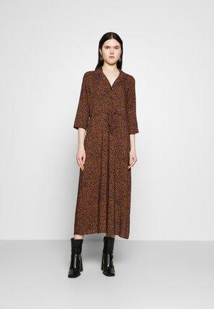 JDYSTAAR LIFE MID CALF DRESS - Shirt dress - brown