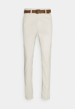 WITH BELT - Chinos - creme