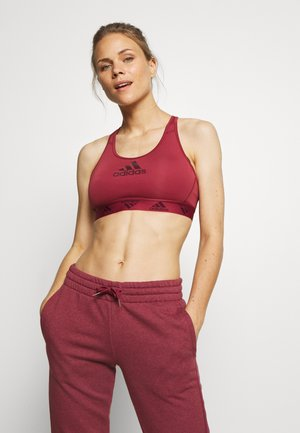 COMPRESSION WORKOUT BRA MEDIUM SUPPORT - Urheiluliivit: keskitason tuki - legred/maroon