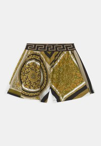 Versace - HERITAGE PRINT - Tracksuit bottoms - white/gold/kaki - 1