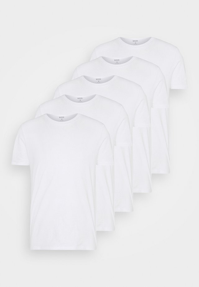 SHORT SLEEVE CREW 5 PACK - T-shirt basic - white
