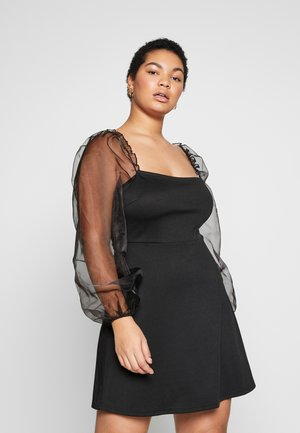 PUFF SLEEVE - Vestito elegante - black